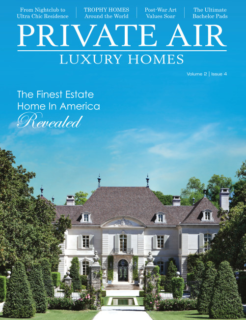 Private Air is a good example of national and international publications I worked with to bring attention to Dallas and the Crespi Hicks Estate.