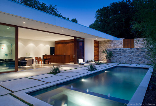 A modern home designed in the 21st century by Wernerfield Architects.