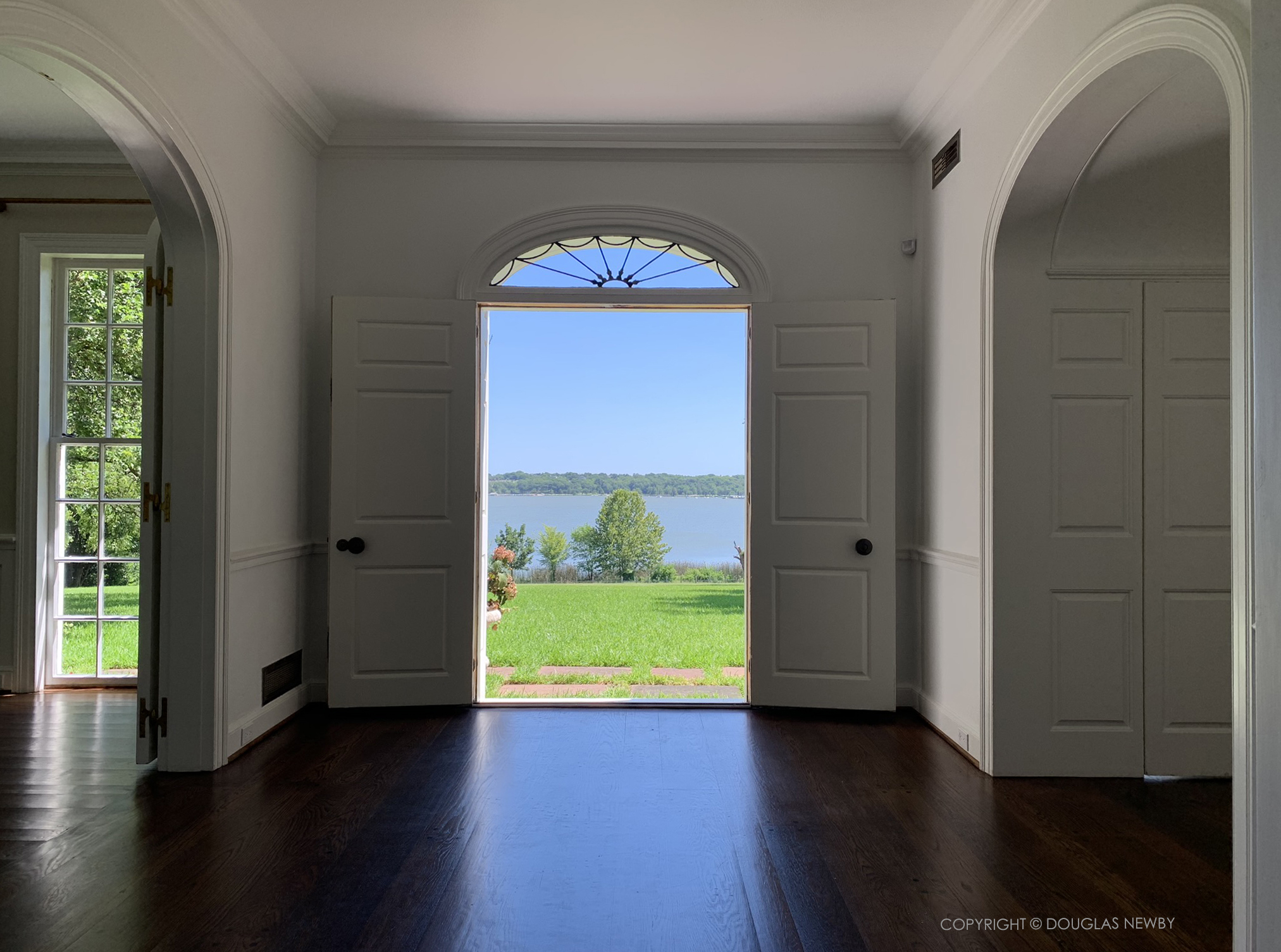 View of White Rock Lake from front door of White Rock Lake home.